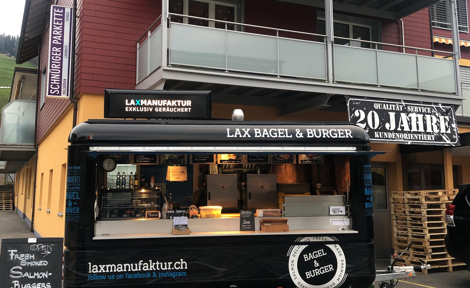 Laxmanufaktur– Foodtruck – fixer Standort in Unterägeri